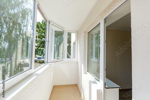 Photo balcony plastic windows