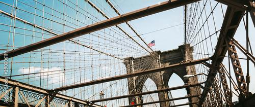 Fotobehang Brooklyn Bridge Brooklyn Bridge, New York, USA