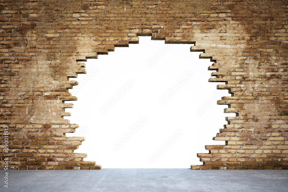 Fototapeta Mauer mit Loch
