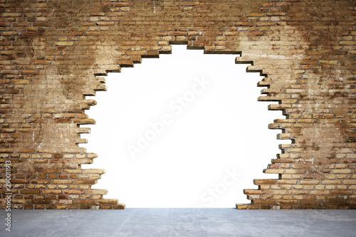 Fotografia, Obraz Mauer mit Loch