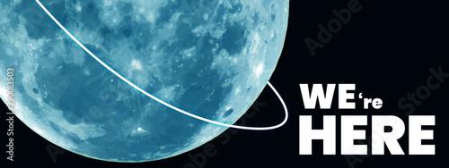 Obraz Moon landing illustration  - fototapety do salonu