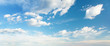 Leinwanddruck Bild - Blue sky clouds background. Beautiful landscape with clouds on sky