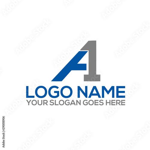 A1 / 1A monogram logo design Canvas Print