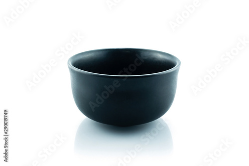 Valokuvatapetti bowl black on white background.