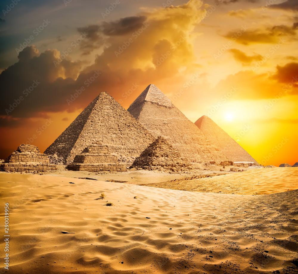 Fototapeta Sunset in the desert