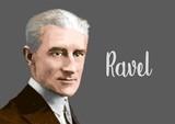 Fototapeta Paryż - Maurice Ravel portrait