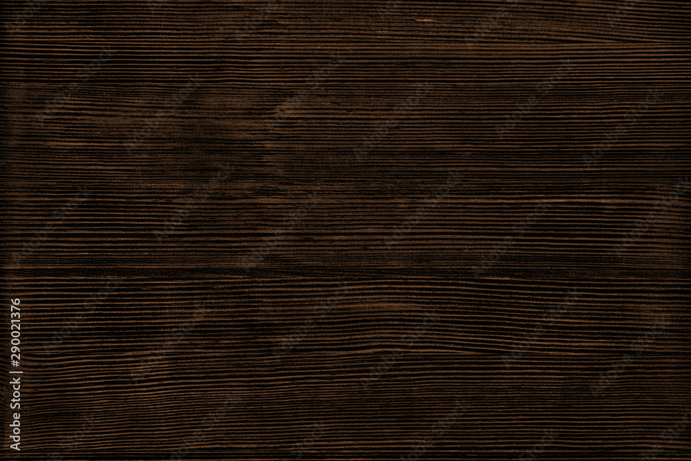 Fototapety, obrazy: Natural wood texture. Dark brown wooden surface background