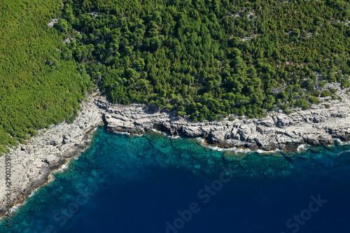 Fotomural Aerial view of Mljet Island, Croatia