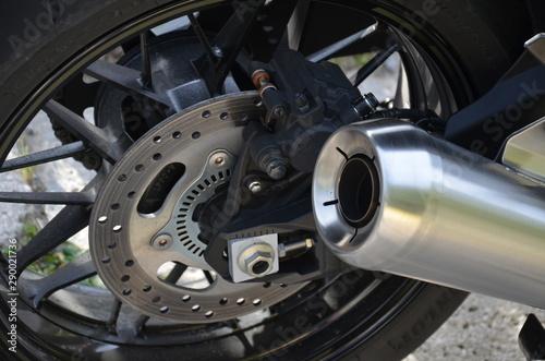 Photo  silnik, motocykl, auta, motocycle, motocykl, metal, chrom, koła, motocykl, auta,