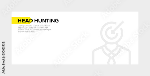 Photo  HEAD HUNTING BANNER CONCEPT