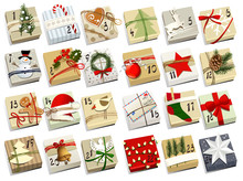 Advent Calendar - Christmas Gifts With Dates Of Advent Calendar