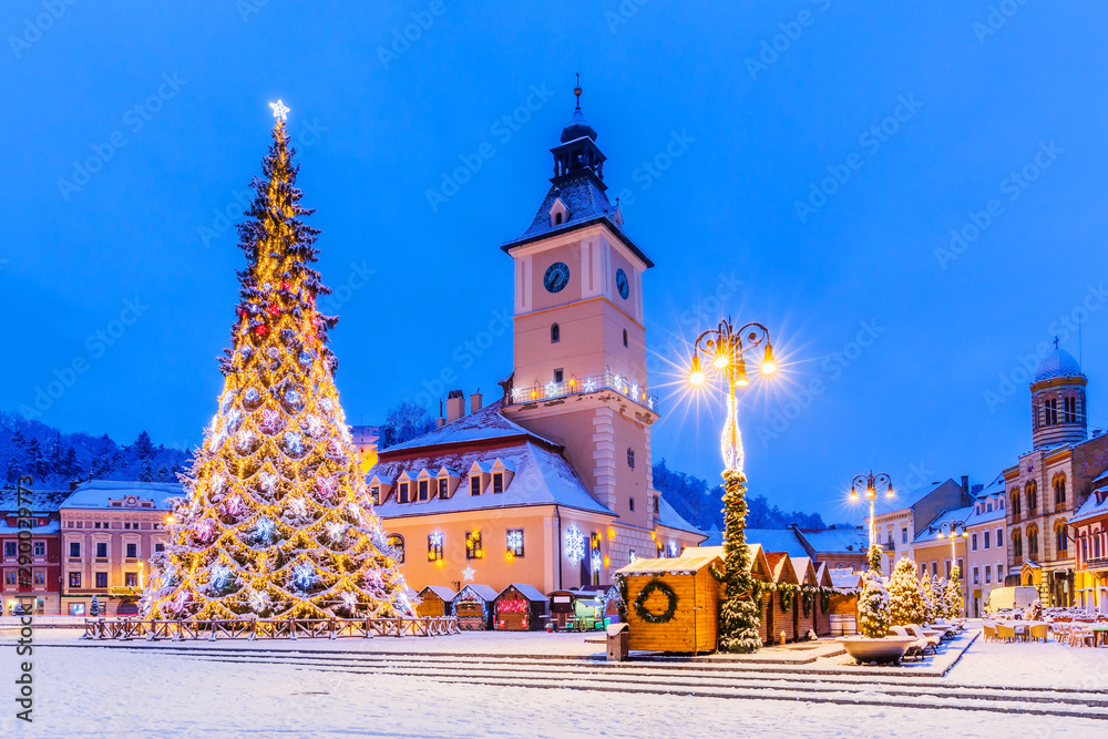 Fototapety, obrazy: Brasov, Romania. Christmas Market.