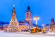 Leinwanddruck Bild - Brasov, Romania. Christmas Market.