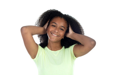 Beautiful teenager girl with afro hair