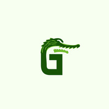 Letter G Crocodile Creative Abstract Vector Logo