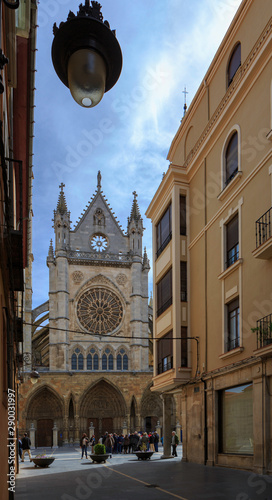 León,Spain,4,2015;One of the most beautiful gothic cathedrals in Spain Slika na platnu