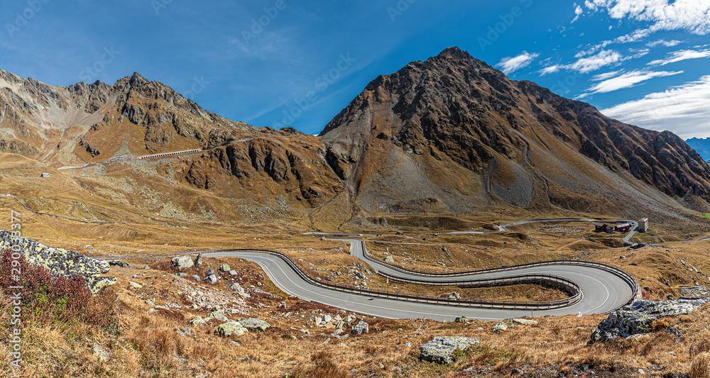 Fototapeta st. bernhard mountainpass