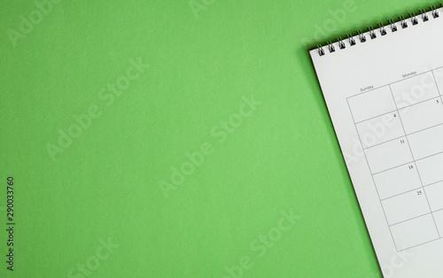 Pinturas sobre lienzo  Top view of calendar or planner on an office desk