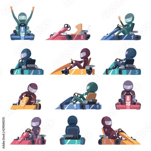 Fototapeta Karting cars