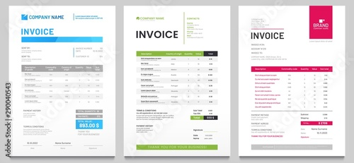 Fotomural Business invoice form template