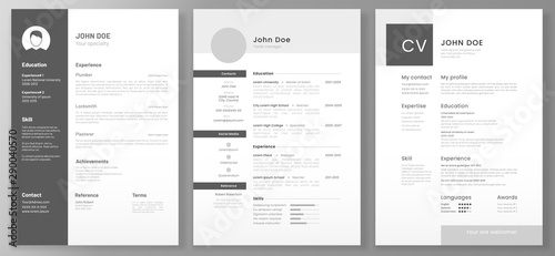 Resume template Wallpaper Mural