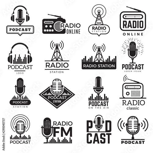 Fotografía Radio station logo