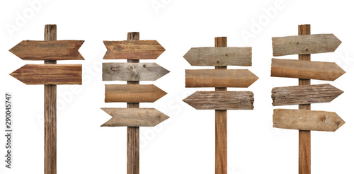 Fototapeta wood wooden sign arrow board plank signpost obraz