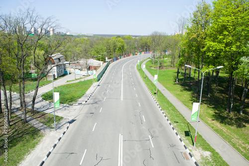 Fotografía Top view of the freeway.
