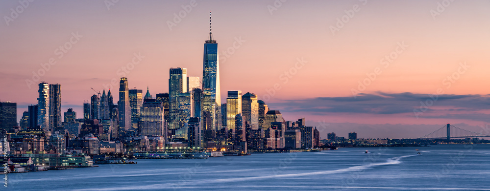 Fototapety, obrazy: One World Trade Center and skyline of Manhattan in New York City, USA