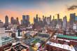 Leinwandbild Motiv New York, New York, USA midtown Manhattan skyline over Hell's Kitchen