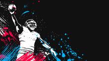 American Football Player. Quar...