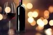 Leinwanddruck Bild Red Wine in Bottle and Glass on white background