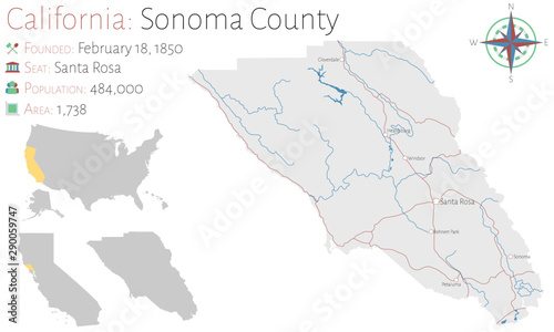 Large and detailed map of Sonoma county in California, USA ... on detailed map of nevada county, detailed map of kern county, detailed map of ventura county, detailed map of hillsborough county, detailed map of riverside county, detailed map of stanislaus county, detailed map of fresno county, detailed map of orange county,
