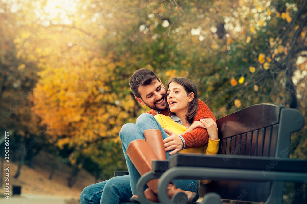 Fototapety, obrazy: Young woman enjoying the company of her love