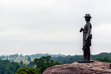 General Warren From Little Round Top In Gettysburg, Pennsylvania - Image