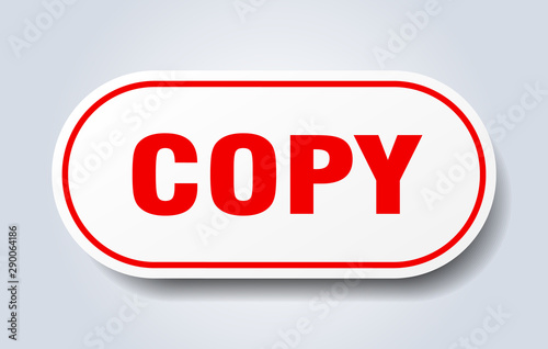 Cuadros en Lienzo  copy sign. copy rounded red sticker. copy
