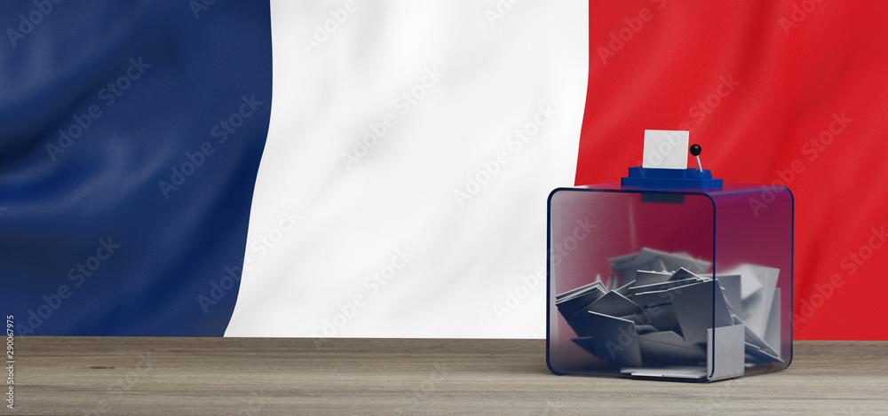 Fototapeta Urne de vote pour les élections Françaises