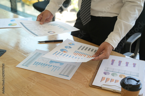 Obraz na plátně  The management is checking the accuracy of the company budget information