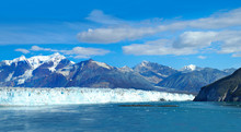 Panorama Of Dawes Glacier In A...