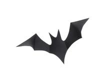 Decorative Black Bat Isolated On White Background