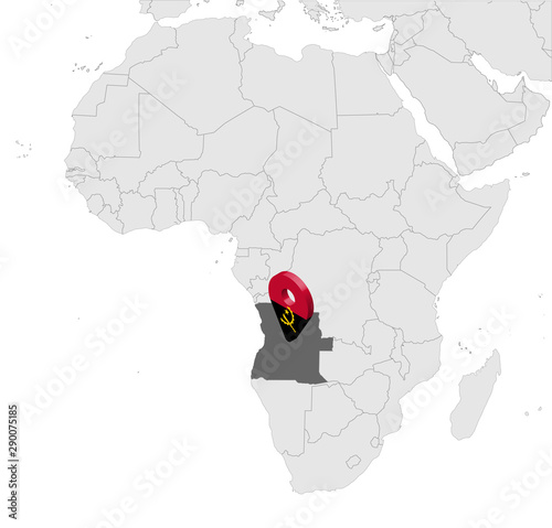 Photo Location Map of Angola on map Africa