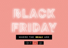 Black Friday Neon Sign On Pink...