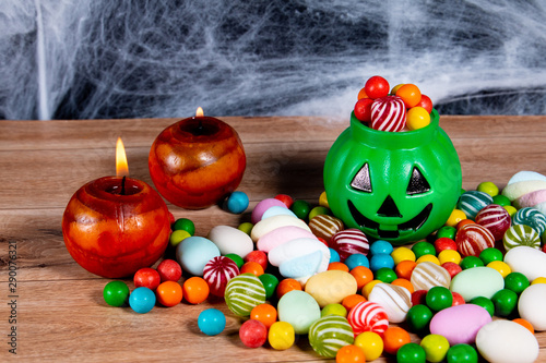 Colorful funny halloween candy for kids