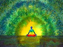Chakra Color Human Lotus Pose ...