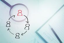 Job Rotation Symbol On Business Background
