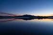 Tranquil dusk reflected in a lake in scandinavia. Ottsjon, Sweden.