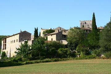 Fototapeta na wymiar Montclus, village médiéval dans le Gard en France