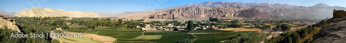 Very large panorama (49MP) of Bamyan (Bamiyan) in Central Afghanistan Wallpaper Mural