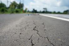 The Crack Of A Longitudinal Road