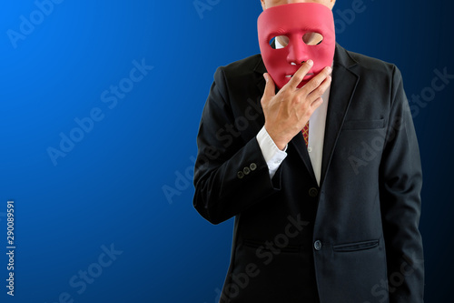 Man wearing mask. Fototapeta